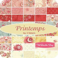 Printemps Fat Eighth Bundle3 Sisters for Moda Fabrics - Fat Eighth Bundles   Fat Quarter Shop