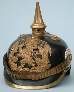 "The easily recognizable ""Pickelhaube.""  Bayern (Bavarian) Pickelhaube."