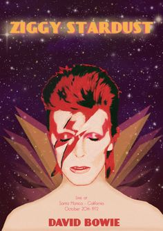 Ziggy Stardust - David Bowie Event Poster 70's