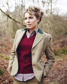 An outfit for when I live on a historical country estate.  A.k.a. never, but nice colors.  Ladies Tweed Sports Jacket & Shooting Clothing of Distinction