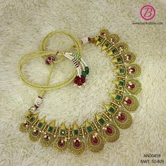 Real Gold Jewelry, Fancy Jewellery, Indian Gold Necklace, Chocker, Jena, Wedding Jewelry, Jewels, Blouse, Jewerly