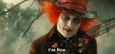 """Képtalálat a következőre: """"alice through the looking glass mad hatter"""" Johnny Depp Mad Hatter, Johnny Depp Movies, Maggie Stiefvater, Aesthetic Gif, Through The Looking Glass, Tim Burton, Live Action, Funny Images, Funny Pictures"""