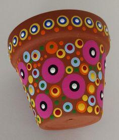 Flower Pot Art, Small Flower Pots, Flower Pot Design, Mosaic Flower Pots, Clay Flower Pots, Mosaic Pots, Flower Pot Crafts, Clay Pot Crafts, Clay Pots