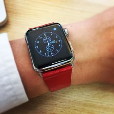 #red #applewatch by robotphaslam