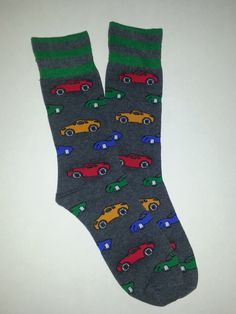 Car Themed Crew Socks! Sold by Socks & Souls where we are warming souls through soles by giving a pair of socks to someone in need with every sock purchase! Visit socksandsouls.com today and warm souls, and soles, the simple way!