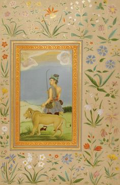 A DERVISH LEADING A LION, INDIA, DELHI, CIRCA 1800