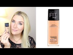 MAYBELLINE FIT ME FOUNDATION FIRST IMPRESSIONS REVIEW +  VALENTINES DAY VLOG - YouTube #beauty #makeup #reviews #bbloggers #bvloggers #maybelline #fitmefoundation #foundation