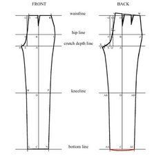 Oh Sew Fashion: Trouser Block Drafting