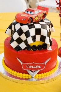 Cars Birthday Cake. My son would love this!!!(: He loves his cars lol. I just might have to have this cake made for his 2nd birthday