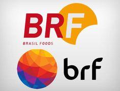 Logotipos antigo e novo da BRF #logodesign