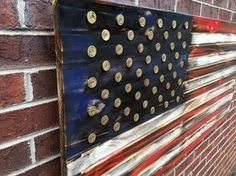 Shotgun Shell Rustic Engraved Wooded American Flag