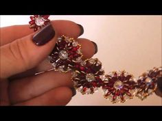 Tutorial Orecchini TANTI AUGURI Superduo/Twin beads, Perle, Bicono Swarovski 3 mm, Rocailles (1/2) - YouTube