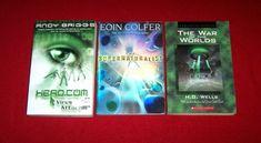 Lot 3 Chapter Books Science Fiction War of Worlds HG.Wells Supernaturalist Virus Chapter Books, Wells, Middle School, Science Fiction, Good Books, War, Teaching High Schools, Sci Fi, Secondary School