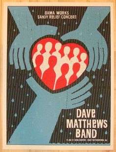 "Dave Matthews Band - silkscreen concert poster (click image for more detail) Artist: Methane Studios Venue: Izod Center Location: East Rutherford, NJ Concert Date: 11/30/2012 Size: 18"" x 24"" Edition:"