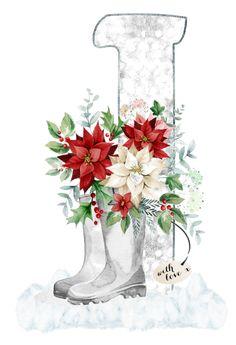 Floral, Letters, Flowers, Flower
