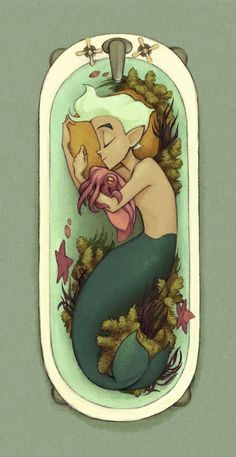 Cuddlefish Art Print (Kecky) - This looks like it could be the inspiration for a Miyazaki/Ghibli film.