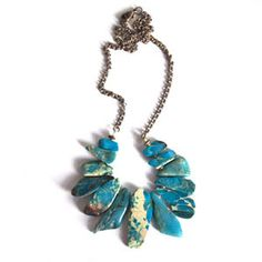 Blue Jasper Collar Necklace by Studio Species
