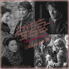 """"""" He amado a otras y amo a muchas personas,  sassenach, pero solo tu eres la dueña de mi corazón, lo tienes por completo en tus manos. -Añadió en voz queda- . Y lo sabes. """"Quote from #MOBY by #DianaGabaldon https://instagram.com/orkneyheart #Outlander"""