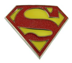 Red With Yellow Superman Super Hero Logo Men Metal Belt Buckle Leather Belt Gift * Want to know more, click on the image.