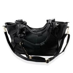 S/S 2013 NEW ARRIVAL Black Colour Hand Bag in Goldtone