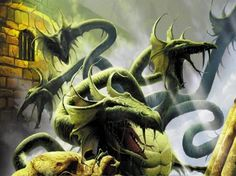 Hm... I don't think thats a hydra... Only has 5 heads... Isn't a hydra supposta have 7?