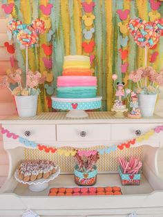 Pastel Colored Mini Mouse Party