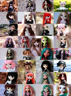 My current doll family Rochelle Goyle, My Melody, Sweet Girls, Black Diamond, Monster High, One Pic, Hello Kitty, Dolls, Pink
