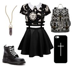 """""""Untitled #35"""" by xxmyinnerdemonsxx ❤ liked on Polyvore featuring Kill Star, SM New York, Dr. Martens, Panacea and Casetify"""