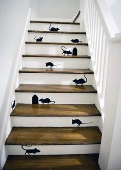 Mice Stairs decals ideas...Not My Stairs No No No Way.