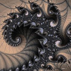 Title  Black Sand Trap  Artist  Elizabeth McTaggart  Medium  Digital Art - Fractal Art
