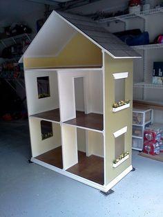 18 in doll houses | ... Alyssa - Handmade Doll House for 18 Inch Dolls (American Girl Dolls #Americangirldolls
