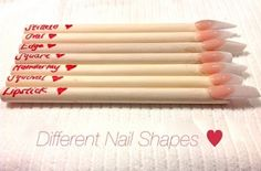 HOW TO Different Nail Shapes  Acrylic Nails