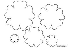 felt flowers template - Google Search