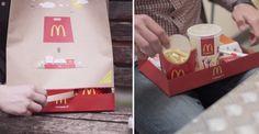 McDonald's crée un sac à emporter qui se transforme en un véritable plateau