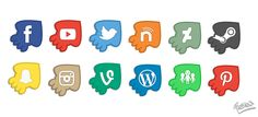 UPDATED! 12 Splatoon Inspired Social Media Icons by JessicaFreaxx