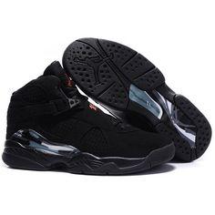 Air Jordan 8 (VIII) New Exclusive Collection All Black Men Shoes $53.00 Low price go to:  http://www.jordanshoesmart.com