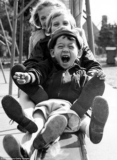 sliding together  - photo by Shirley Baker