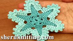 Crochet Star Flower We invite you to visit https://www.sheruknitting.com/ There are over 800 video tutorials of crochet and knitting in different techniques. Also, you can see unique authors' design in these tutorials only on a website at https://www.sheruknitting.com/  Enjoy all you get from a membership: - No advertising on all tutorials; - Valuable in different devices; - Step by step and detailed video tutorials; - New courses added every week