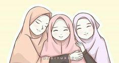 muslim friends Best Friends Cartoon, Friend Cartoon, Three Best Friends, Friend Anime, Best Friends Forever, Girl Cartoon, Hijab Drawing, Ariana Grande Drawings, Best Friend Drawings