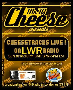 CHEESETRACKS on LWR http://soundcloud.com/mr-dj-cheese