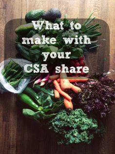 How to use your CSA Box