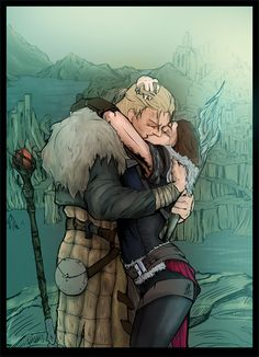 Anders and Hawke by Nectim.deviantart.com on @DeviantArt