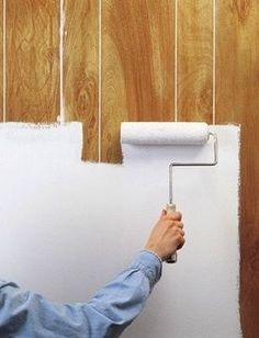 How to Paint Over Wall Panels. The only good DIY for paneling, I've seen. How to Paint Over Wall Panels. The only good DIY for paneling, I've seen. Home Renovation, Home Remodeling, Bedroom Remodeling, Painting Wood Paneling, Cover Wood Paneling, Wood Paneling Makeover, Paint Over Wood Paneling, Painted Paneling Walls, Paint Walls