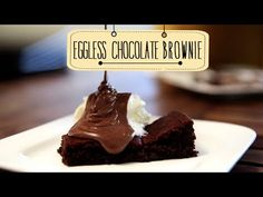 Eggless Chocolate Brownie | Quick & Easy Dessert Recipe | Beat Batter Bake With Priyanka - YouTube Quick Easy Desserts, Delicious Desserts, Dessert Recipes, Chocolate Cube, Chocolate Brownies, Condensed Milk Desserts, Recipe Mix, Cakes And More, Cooking Recipes