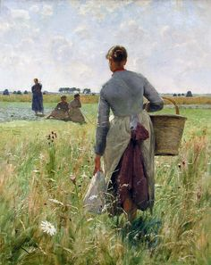 Emile Claus ... it's difficult to predict what art will move me, but one glance at this painting and I can feel the sun on my face, the weight of the basket, the grass against my ankles and my skirts getting in my way. What an incredible ability to transport the viewer.