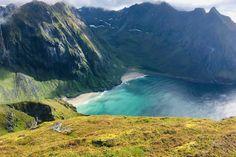 Ryten over Kvalvika i Lofoten - Spektakulær Lofoten, Waterfall, Outdoor, Outdoors, Waterfalls, Outdoor Games, Rain