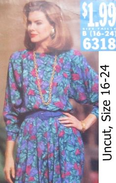Butterick+6318+Uncut+Pattern+Misses+Dress+Size+16+18+20+22+24+See+&+Sew