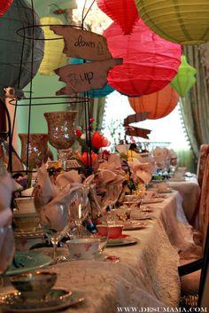 Mad Hatter Tea Party, mad hatter, mad hatter party, bridal show, party decorations