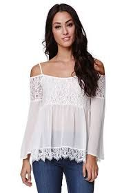 LA Hearts Lace Detail Cold Shoulder Top - Womens Shirts from PacSun. Warm Outfits, Casual Outfits, Summer Outfits, Cute Outfits, Peasant Tops, Cute Tops, Dress To Impress, Casual Dresses, Cold Shoulder