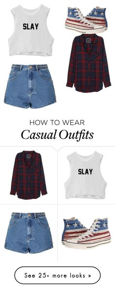 """Casual"" by laura210405 on Polyvore featuring Glamorous, Converse and Rails"